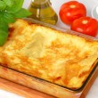 Stock Photo: Freshly baked lasagna