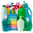 Various bottles with cleaning supplies — Stock Photo #12633196