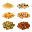 Stock Photo: Collection of grains