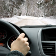 Driving in winter - Foto de Stock