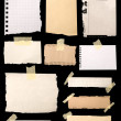 Stock Photo: Pieces of notepaper