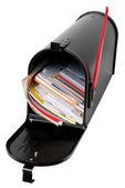Postbus vol met mail — Stockfoto