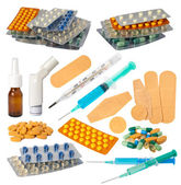 Medical objects collection — Stock Photo
