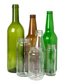 Glass bottles prepared for recycling — Stock Photo