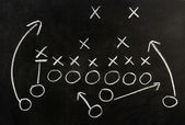 Plan of a football game — Stock Photo