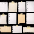 Stock Photo: Pieces of paper ready for making notes