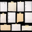 Pieces of paper ready for making notes — Stock Photo