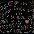 Drawings on blackboard — Stockfoto #12640457