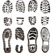 Stock Photo: Shoes prints