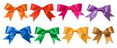 Colorful bows isolated on white background — Stock Photo