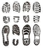 Shoes prints — Stock Photo
