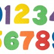 Stock Photo: Colorful numbers isolated on white