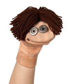 Funny puppet smiling — Stock Photo