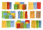 Shopping bags collection — Stock Photo
