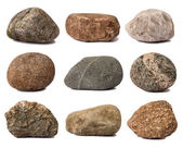 Rocks isolated on white — Stock Photo