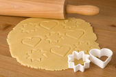 Preparing cookies — Stockfoto