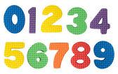 Numery kolorowy na białym tle — Zdjęcie stockowe