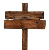 Old wooden signpost — Stock Photo