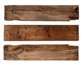 Old planks isolated on white — Stock Photo