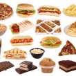 Fast food and snacks collection — Stock Photo
