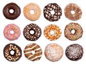 Coleção de donuts — Foto Stock
