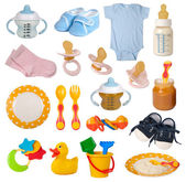Baby goods isolated on white background — Stock Photo
