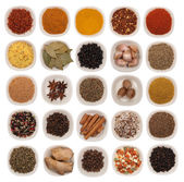 Spices and herbs isolated on white — Stock Photo