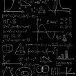 Maths formulas on a blackboard - Stock Photo