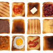 Stock Photo: Toasts collection