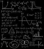 Maths formulas on a blackboard — Stock Photo