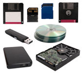 Data storage devices — 图库照片