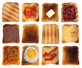 Toasts collection — Stock Photo