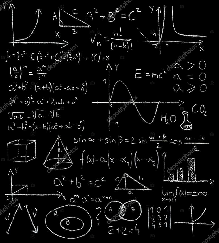 黑板上的数学公式 — 图库照片08photkas#22743765