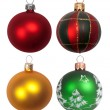 Christmas balls on white background — Stock Photo