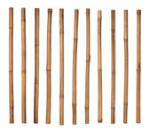 Bamboo sticks isolated on white — Stok fotoğraf