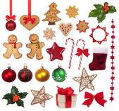 Christmas dekorasyon koleksiyonu — Stok fotoğraf