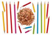 Coleção de lápis coloridos — Foto Stock