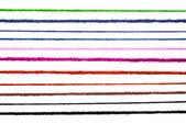 Beyaz izole yün dizeleri — Stok fotoğraf