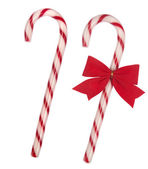 Christmas candy cane isolated on white background — Stock Photo