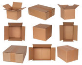 Cardboard boxes isolated on white — Stock Photo
