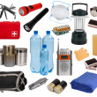 Objects useful in an emergency situation isolated on white — Stock Photo #22845654