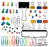 Pins and paper clips collection — Stock Photo