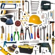 Stock Photo: Tools collection isolated on white background