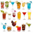 Drinks, coctails and beer isolated on white background — Stockfoto