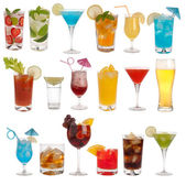 Drinks, coctails and beer isolated on white background — Stock Photo