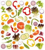 Cortar os vegetais crus, isolados no fundo branco — Foto Stock