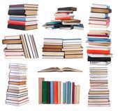 Books isolated on white background — Stock Photo