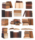 Old books isolated on white background — Stock Photo