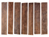 Old wooden planks isolated on white background — Stock Photo