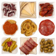 Spanish tapas isolated on white background  — Stock Photo